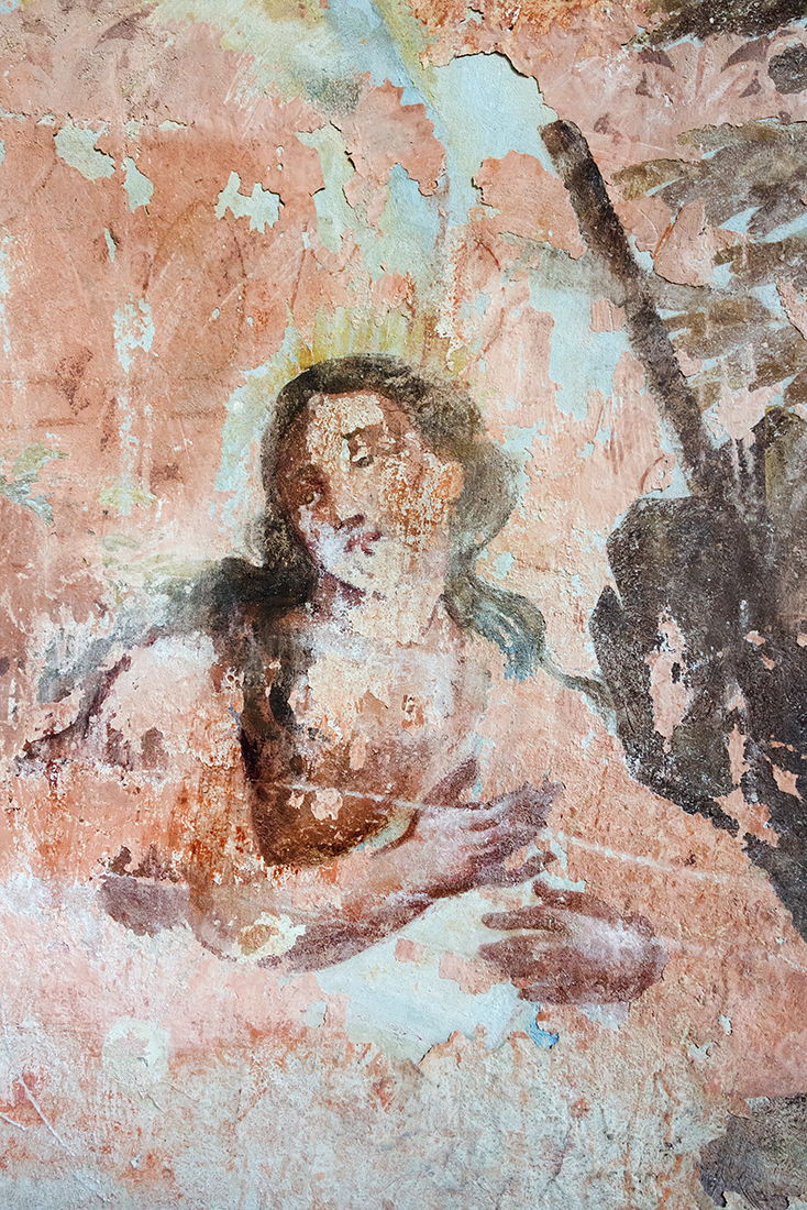 Nástěnné malby v kostele - Mural Painting in the ruins of the church