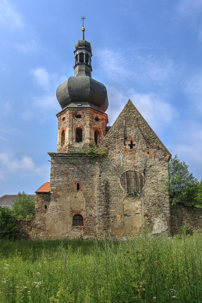 Klášter v Pivoni - Ruins of the Augustinian Monastery, Pivon village, Czech Republic