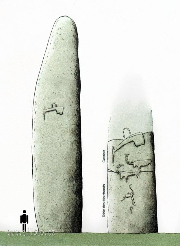 Le Grand Menhir Brisé a rozlámaný menhir