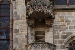 Medieval church Notre-Dame in the Vitré city, France