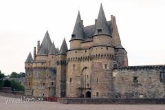 Chateau de Vitré - medieval castle in the town of Vitré, France
