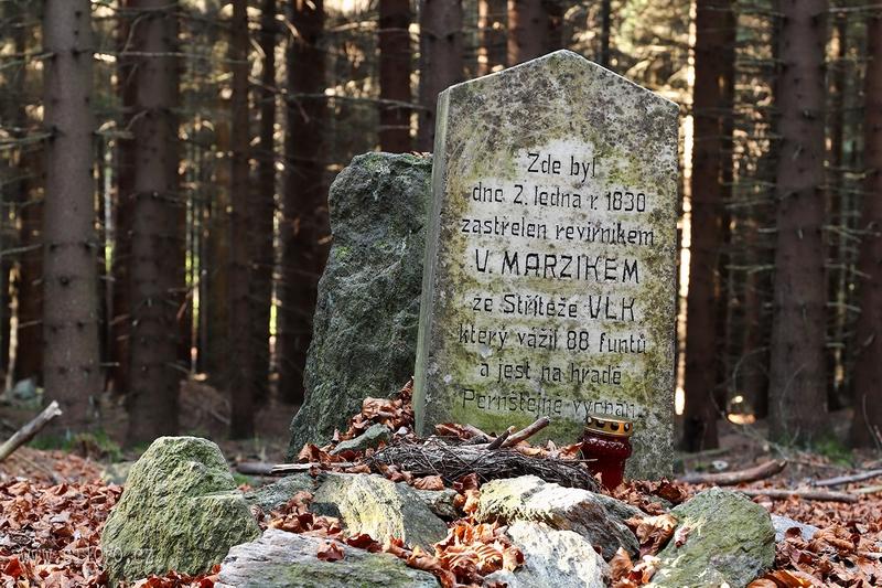 Pomník posledního vlka na Vysočině