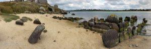 Dolmen de Guinirvit v Kernickém zálivu